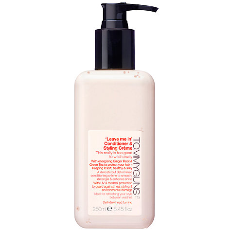 Buy TommyGuns Leave Me In Conditioner & Styling Crème, 250ml Online at johnlewis.com