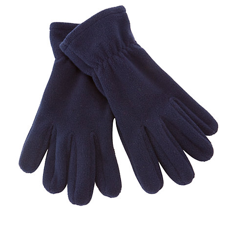 Buy John Lewis Unisex Fleece Gloves, Navy Online at johnlewis.com