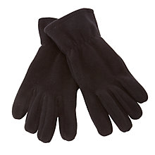 Buy John Lewis Unisex Fleece Gloves, Black Online at johnlewis.com