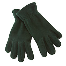Buy John Lewis Unisex Fleece Gloves, Bottle Green Online at johnlewis.com