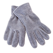 Buy John Lewis Unisex Fleece Gloves, Grey Online at johnlewis.com