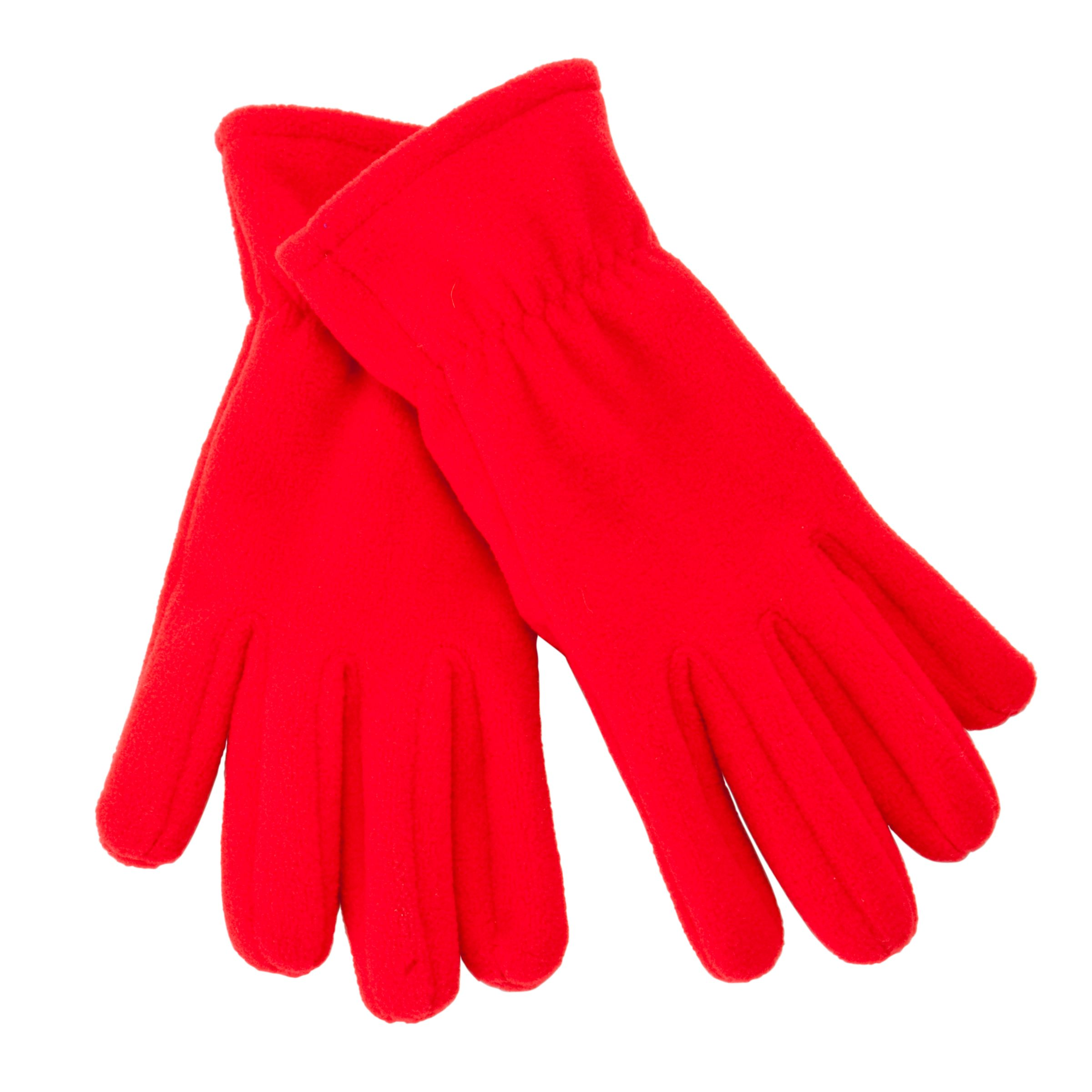 John Lewis Unisex Fleece Gloves, Red 493142