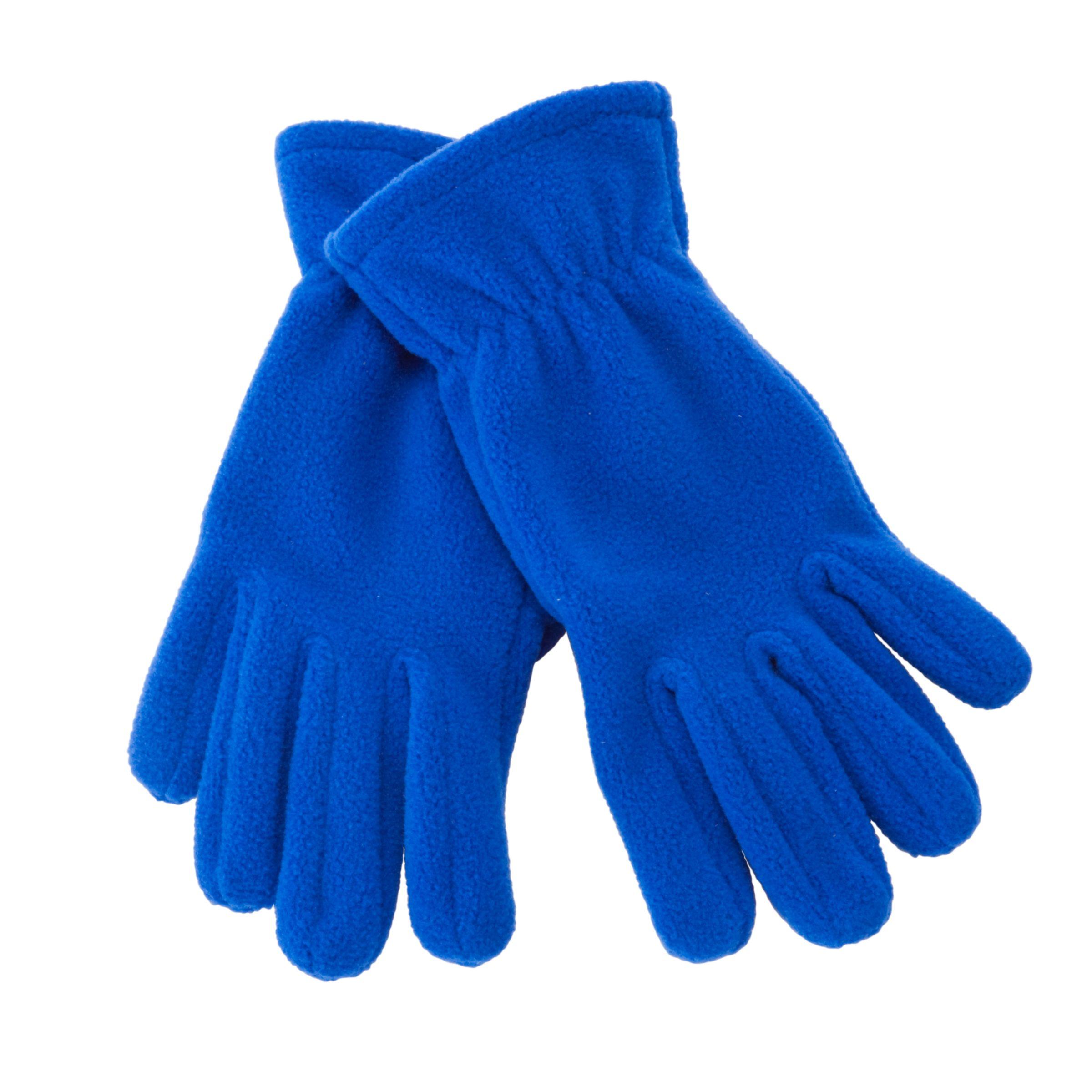 John Lewis Unisex Fleece Gloves, Royal Blue 493144