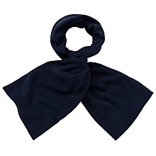 Buy John Lewis Unisex Fleece Scarf, Navy Online at johnlewis.com