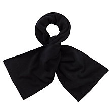 Buy John Lewis Unisex Fleece Scarf, Black Online at johnlewis.com