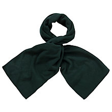 Buy John Lewis Unisex Fleece Scarf, Bottle Green Online at johnlewis.com