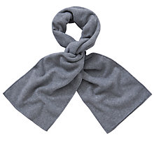Buy John Lewis Unisex Fleece Scarf, Grey Online at johnlewis.com