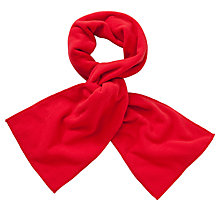 Buy John Lewis Unisex Fleece Scarf, Red Online at johnlewis.com