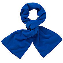 Buy John Lewis Unisex Fleece Scarf, Royal Blue Online at johnlewis.com