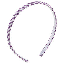 Buy John Lewis Gingham Print Alice Band, Lilac Online at johnlewis.com