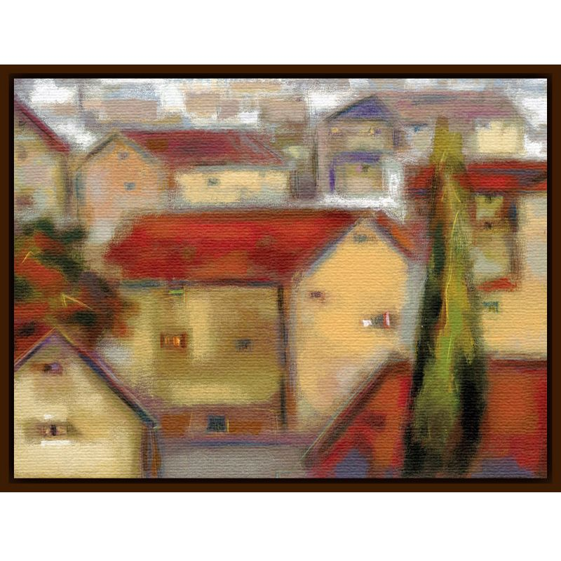 Eric Balint - Village View, Dark Canvas Rim 98844