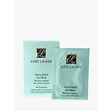 Buy Estée Lauder Stress Relief Eye Mask, 10 Packettes 1.1ml each Online at johnlewis.com