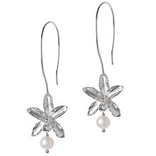 Buy Dower & Hall Nirvana White Pearl Long Drop Earrings Online at johnlewis.com