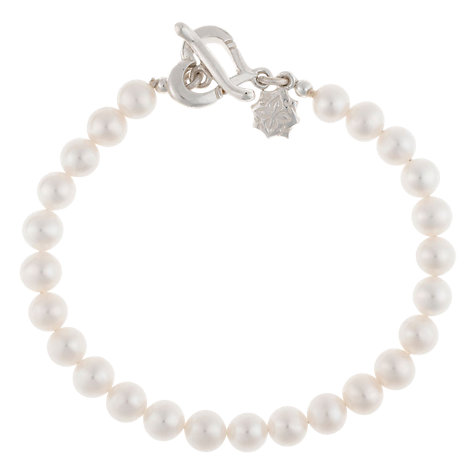 Buy Dower & Hall White Medium Freshwater Pearl Bracelet Online at johnlewis.com