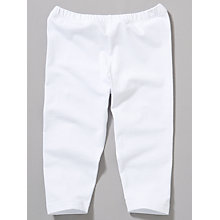 Buy John Lewis Girl Basic Cropped Leggings, White Online at johnlewis.com