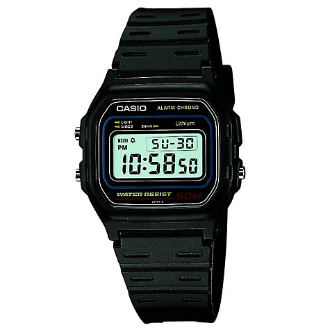 Buy Casio Digital Plastic Strap Watch Online at johnlewis.com