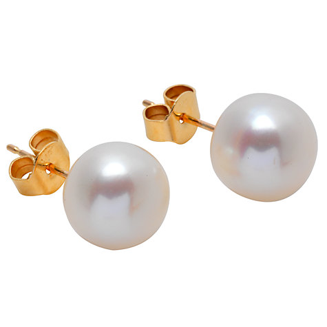 Buy A B Davis 9ct Yellow Gold Freshwater Pearl Bouton Stud Earrings Online at johnlewis.com