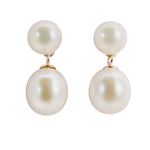 Buy A B Davis 9ct Gold Freshwater Pearl Drop Earrings Online at johnlewis.com
