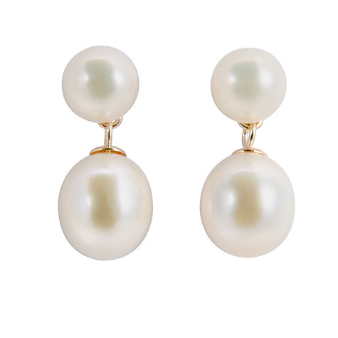 Buy A B Davis Freshwater Pearl Drop Earrings Online at johnlewis.com