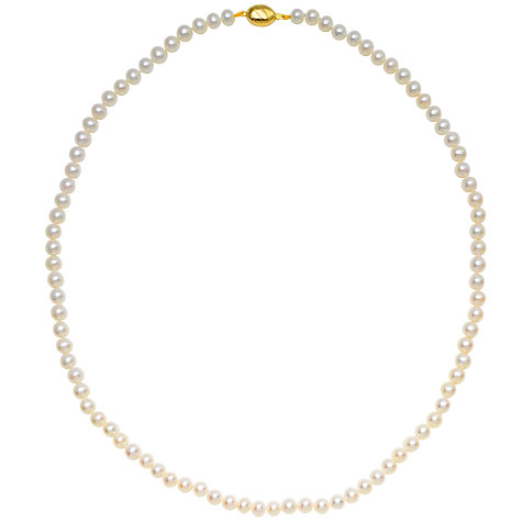 Buy Freshwater Lustre Pearls 9ct Gold Knotted Necklace Online at johnlewis.com