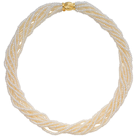 Buy A B Davis Freshwater Pearl Multi Twist Necklace Online at johnlewis.com