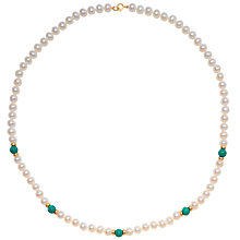 "Buy A B Davis Freshwater Pearl, Gold and Coloured Bead 18"" Necklace Online at johnlewis.com"