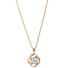 Buy A B Davis Cultured Pearl Gold Flower Pendant Necklace with Adjuster Chain Online at johnlewis.com