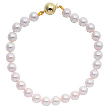 "Buy Cultured Pearls Knotted 7.5"" Bracelet with Gold Clasp Online at johnlewis.com"