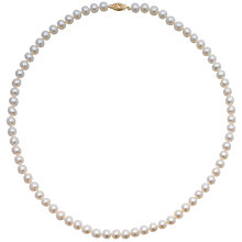 "Buy A B Davis Freshwater Pearls 20"" Necklace with Gold Clasp Online at johnlewis.com"