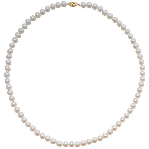 "Buy Freshwater Pearls 20"" Necklace with Gold Clasp Online at johnlewis.com"