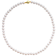 "Buy A B Davis Cultured Pearls Knotted 18"" Necklace with Gold Clasp Online at johnlewis.com"