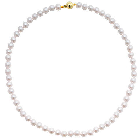 "Buy Cultured Pearls Knotted 18"" Necklace with Gold Clasp Online at johnlewis.com"