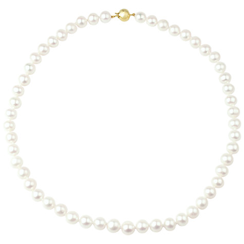 "Buy A B Davis Freshwater Lustre Pearls Knotted 16"" Necklace with Gold Clasp Online at johnlewis.com"