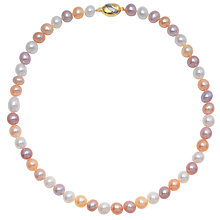 Buy Three Tone Freshwater Pearl Knotted Necklace Online at johnlewis.com