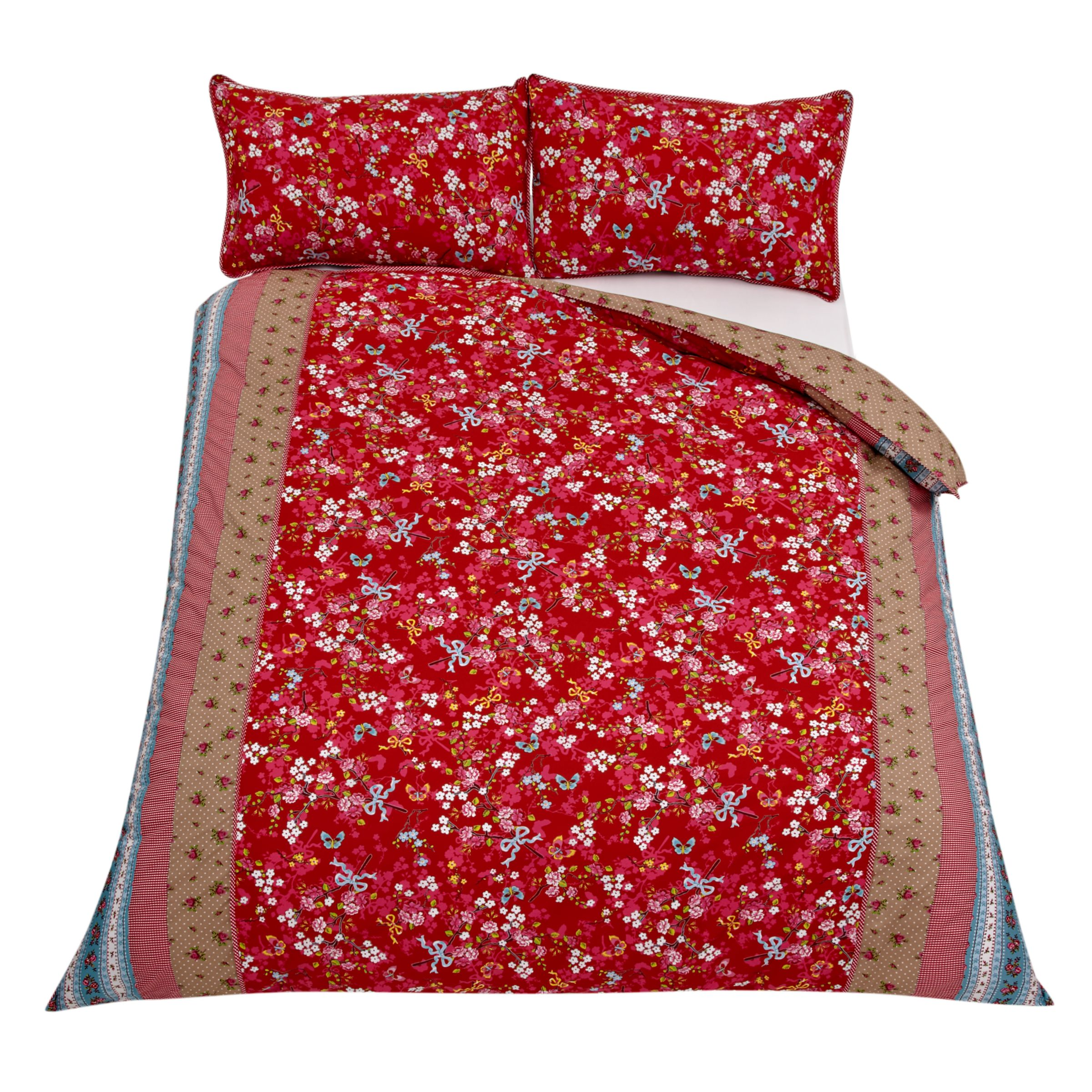e3556932b93 PiP Studio Chinese Rose Duvet Cover and Pillowcase Set, Red on PopScreen