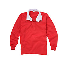 Buy School Boys' Rugby Shirt, Red Online at johnlewis.com
