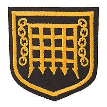 Buy The Romsey School Boys' Blazer Badge, Black/Gold Online at johnlewis.com