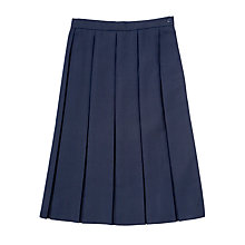 Buy Girls' School Box Pleat Skirt, Navy Online at johnlewis.com