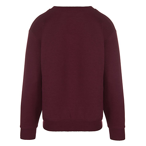 Buy Leehurst Swan School Unisex Reception - Year 11 V-Neck Day Sweatshirt, Maroon Online at johnlewis.com
