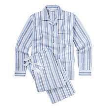 Buy Derek Rose Savile Collection Stripe Pyjamas Online at johnlewis.com