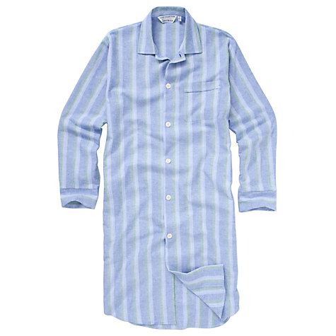 Buy Derek Rose Savile Collection Stripe Nightshirt, Blue/White Online at johnlewis.com