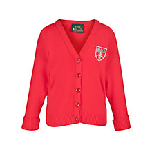 Buy Stormont School Girls' Cardigan, Red Online at johnlewis.com