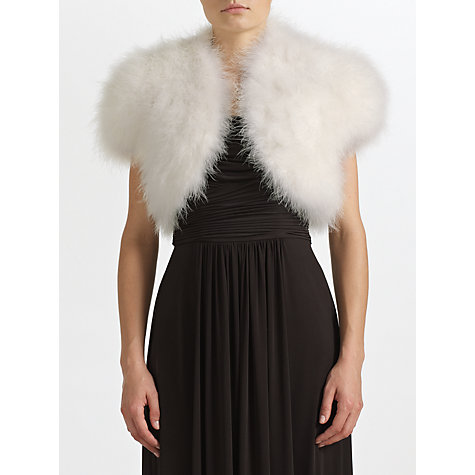Buy John Lewis Harper Marabou Shrug Online at johnlewis.com