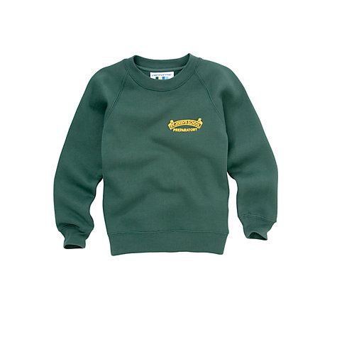 Buy St John's Preparatory School Unisex Sweatshirt, Bottle Green Online at johnlewis.com