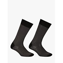 Buy John Lewis Birdseye Egyptian Cotton Socks, Pack of 2, Black Online at johnlewis.com