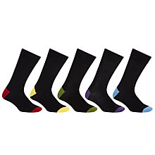 Buy John Lewis Bright Heel and Toe Socks, Pack of 5 Online at johnlewis.com