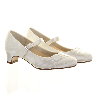 Rainbow Club Delilah Bridesmaids Shoes with Heel Ivory £35.00 AT vintagedancer.com