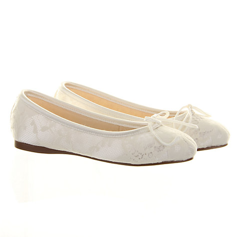 Buy Rainbow Club Charlie Bridesmaids' Shoes, Ivory Online at johnlewis.com