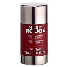 Buy Guerlain Habit Rouge Deodorant Stick, 75ml Online at johnlewis.com