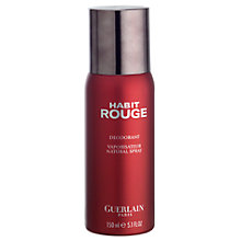 Buy Guerlain Habit Rouge Deodorant Spray, 150ml Online at johnlewis.com